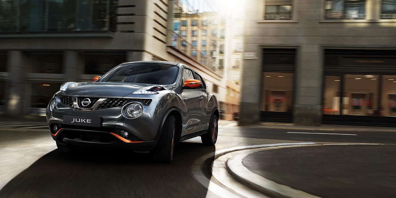 Gun Metallic JUKE with orange highlights