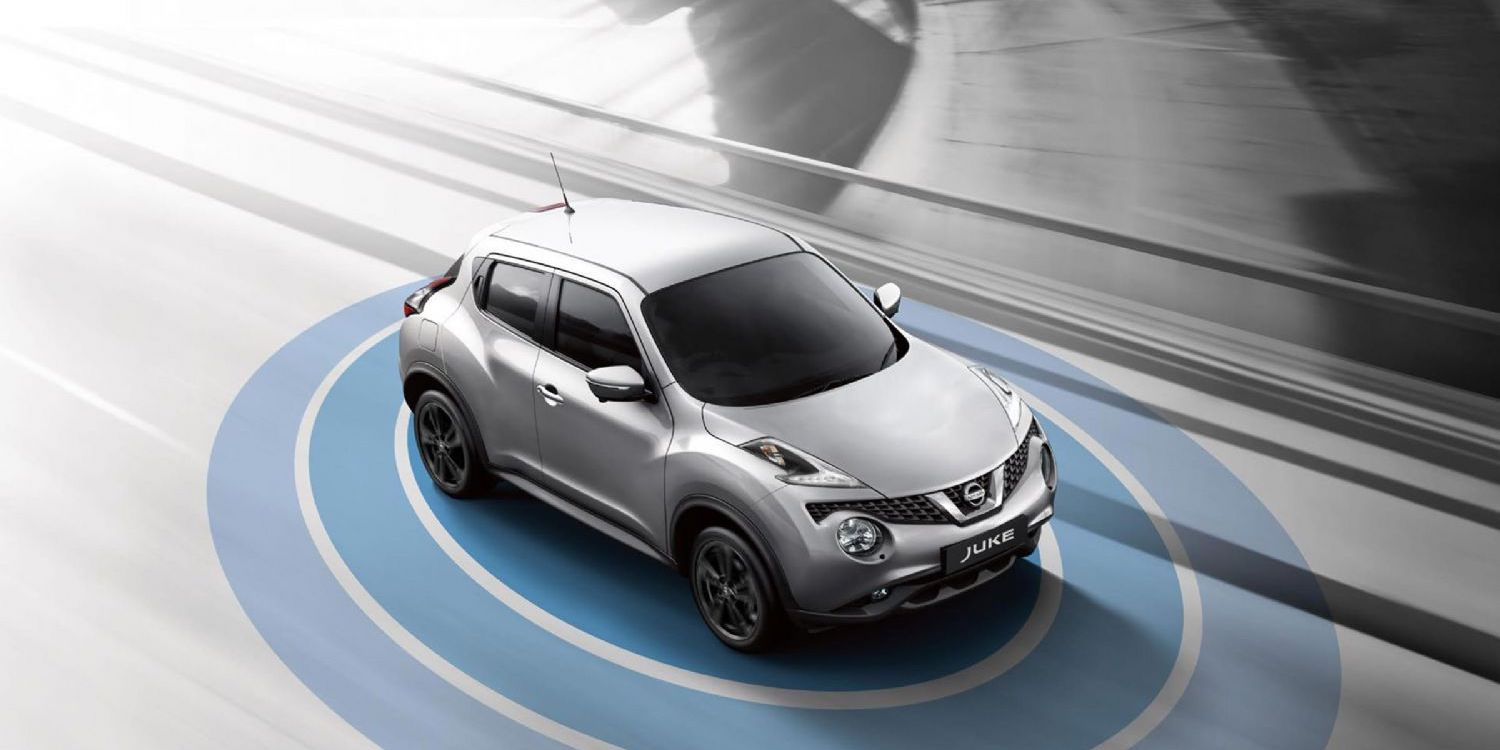 Nissan JUKE with representation of Nissan Safety Shield