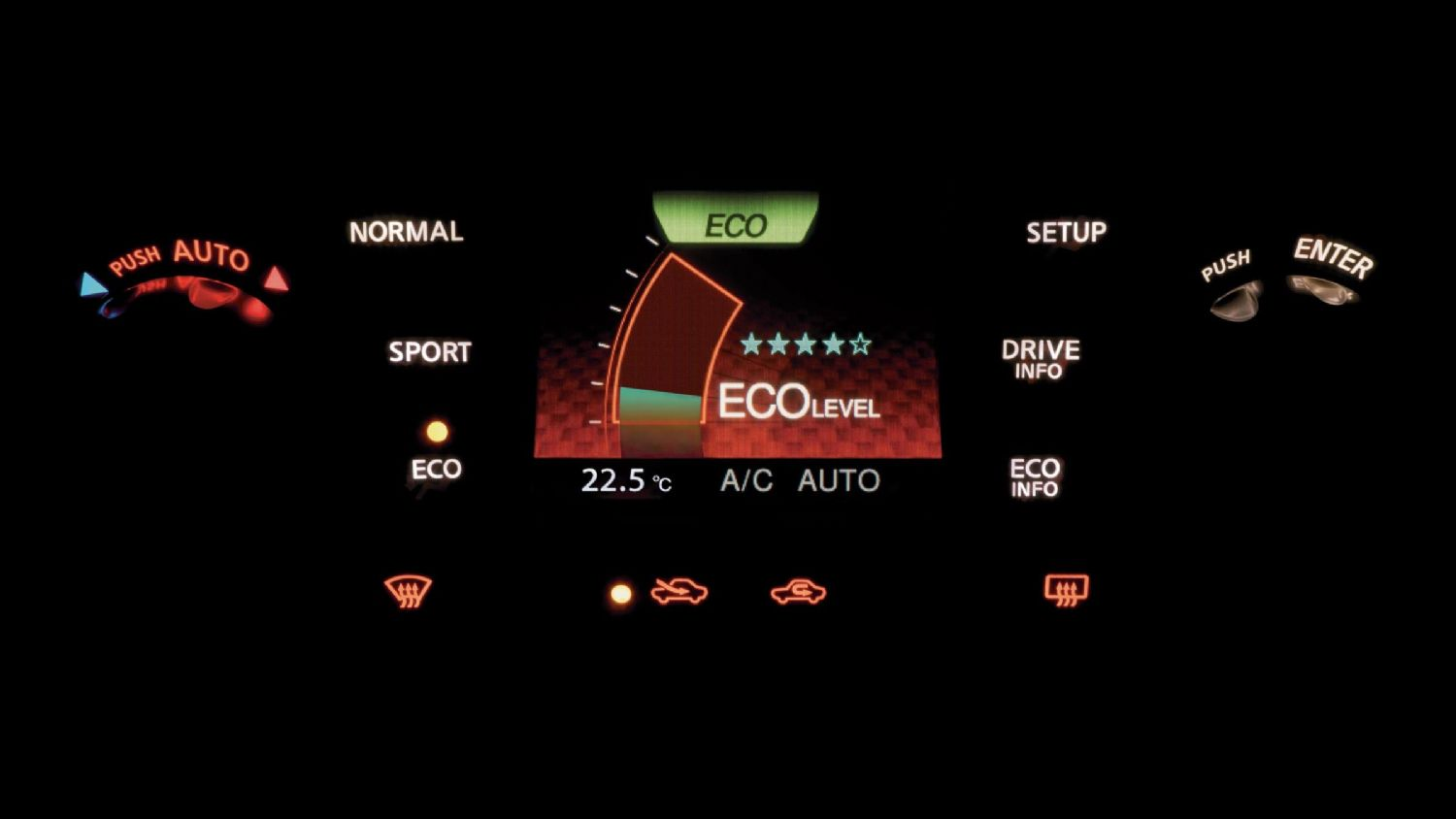 Nissan Dynamic Control System with 'eco mode'