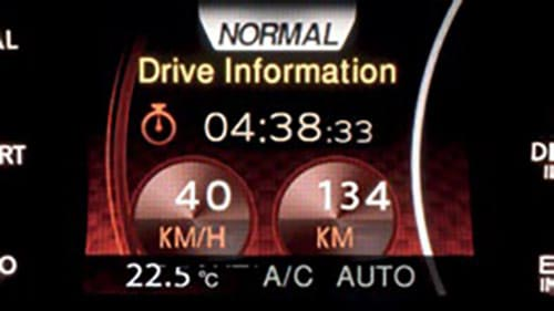 Nissan Dynamic Control System with 'nomal mode' and drive information