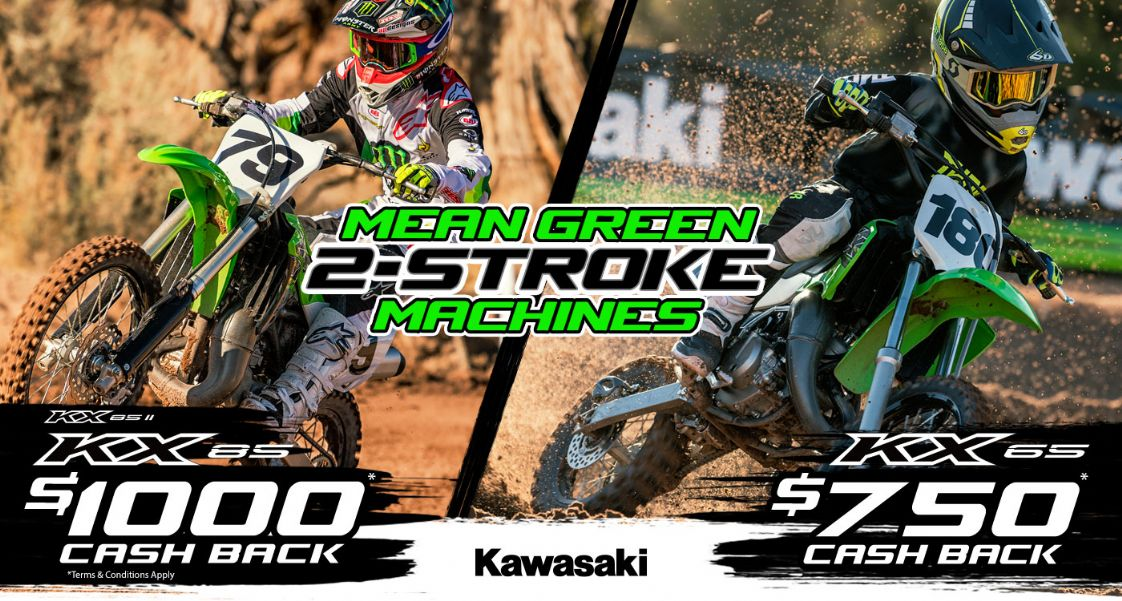 KAWASAKI MEAN GREEN 2-STROKE MACHINES