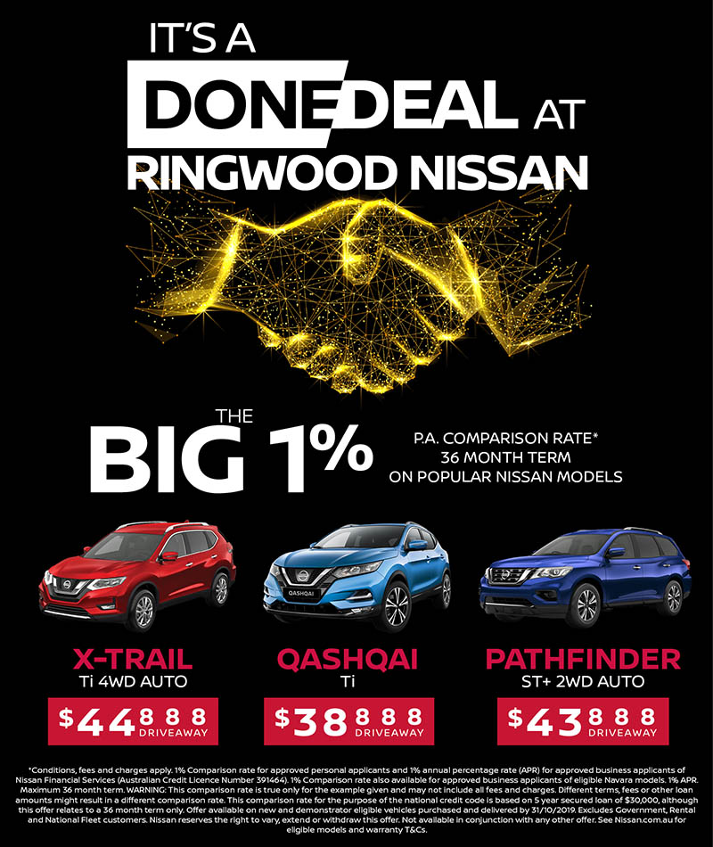 It's a Done Deal at Ringwood Nissan this September
