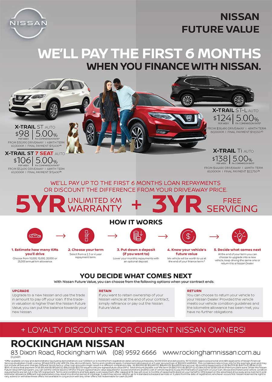 Nissan X-Trail Future Value Offer