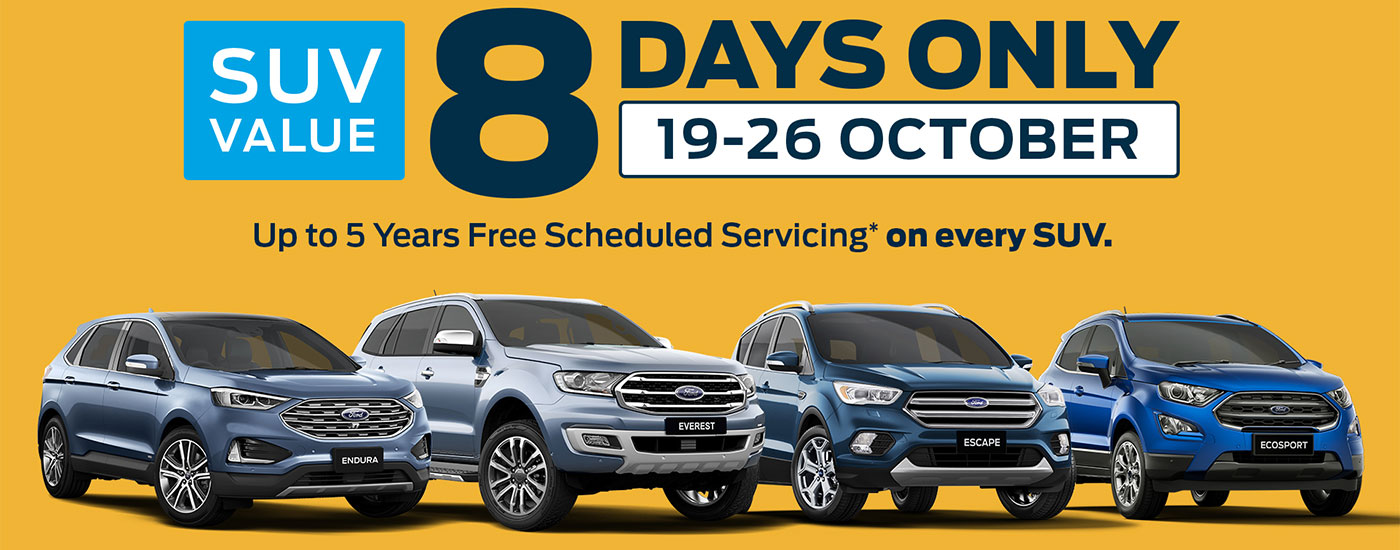 SUV 8 Day Sale
