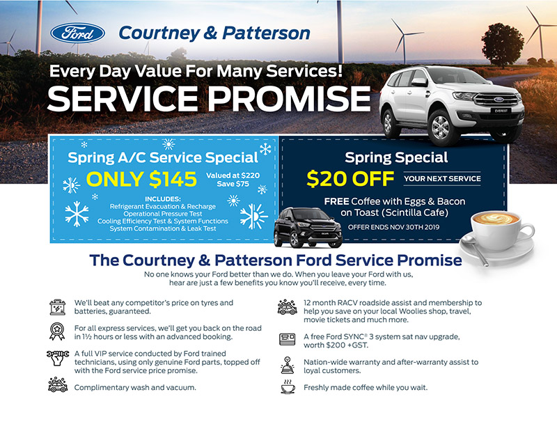 Courtney & Patterson Ford - Service Promise