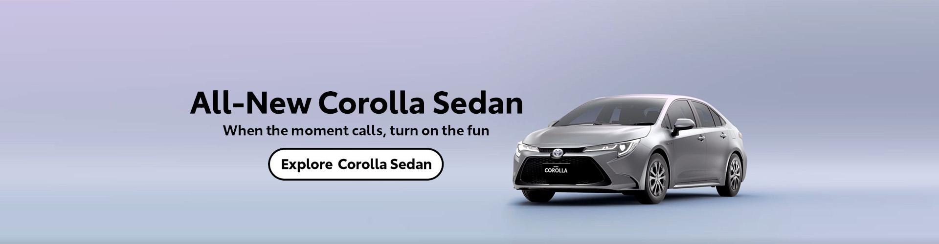 All-New Corolla Sedan