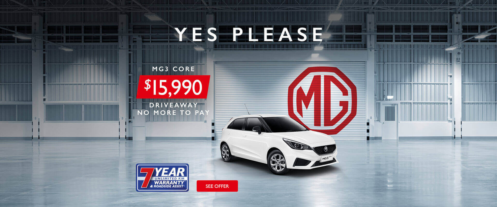 MG - MG3S 'Yes Please' Special Offer