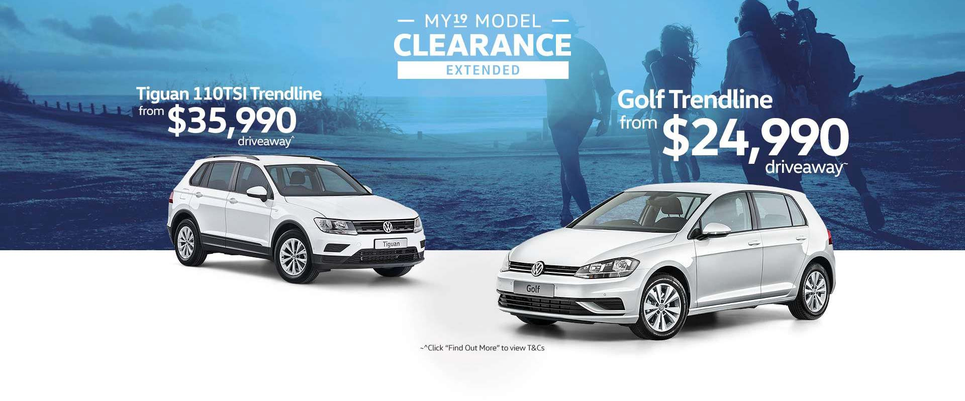 Volkswagen MY19 Model Clearance Extended