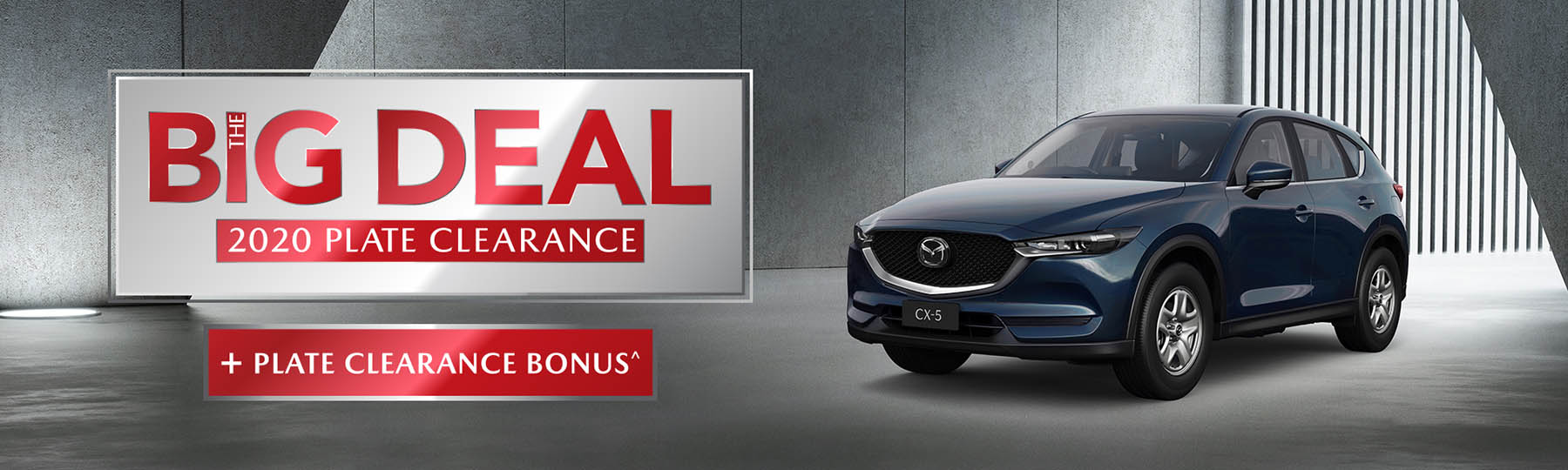 Mazda The Big Deal 2020 Plate Clearance