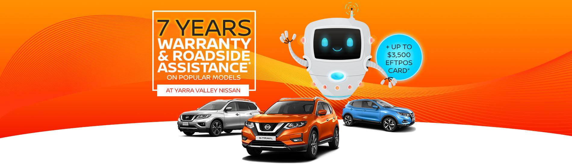 Yarra Valley Nissan - 7 Year Warranty