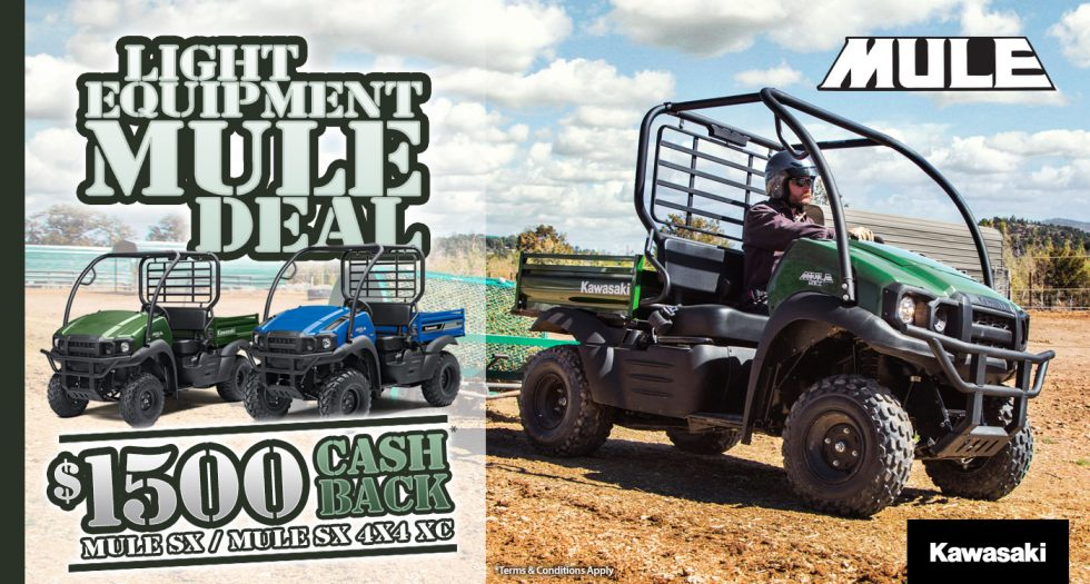 Kawasaki - Light Equipment Mule Deal