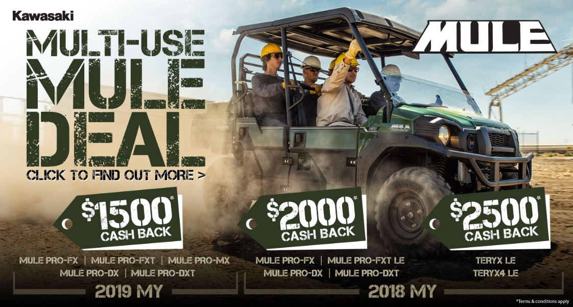 KAWASAKI - Multi-Use Mule Deal