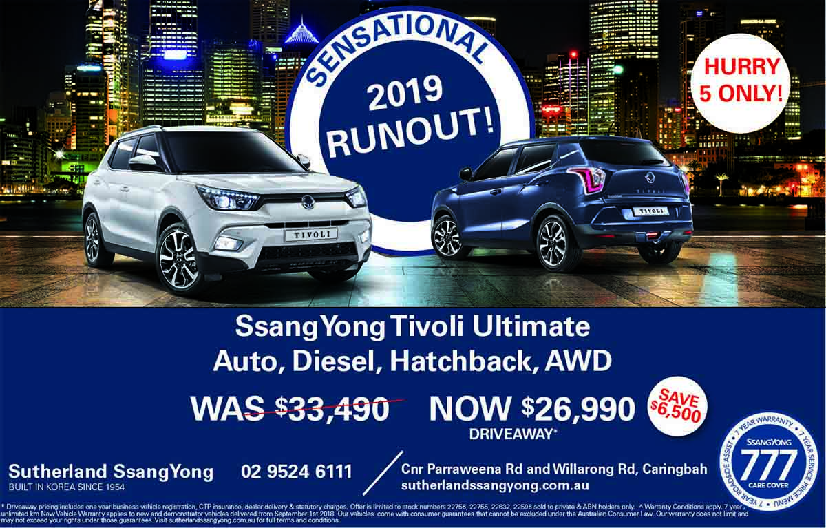 Sutherland SsangYong 3 Day Sale