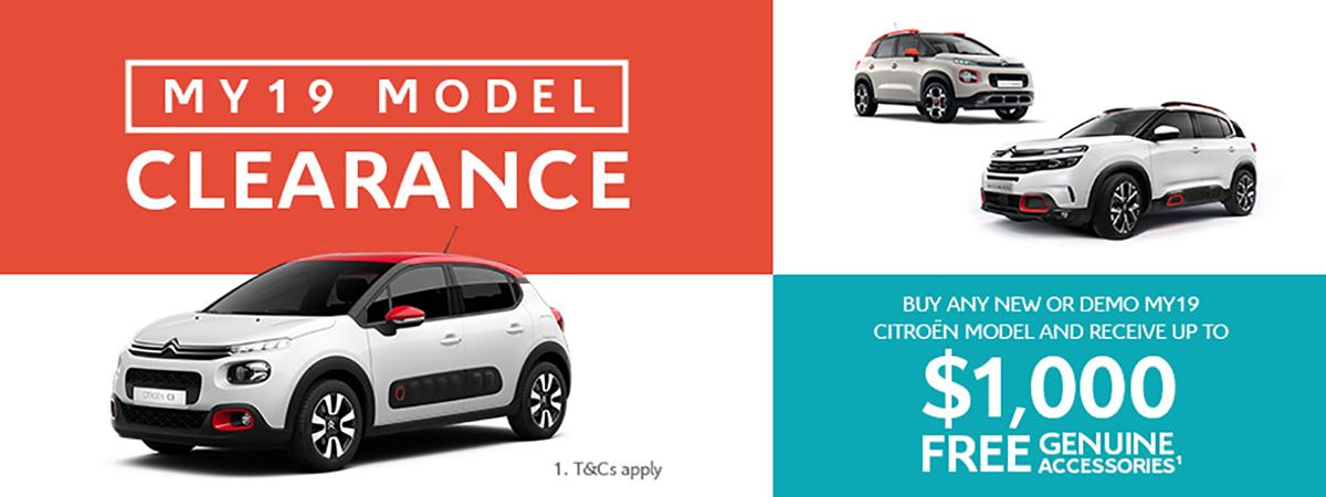 2019 Citroen Model Clearance