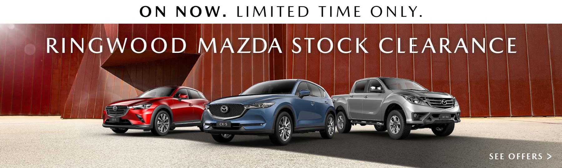 Ringwood Mazda Stock Clearance December
