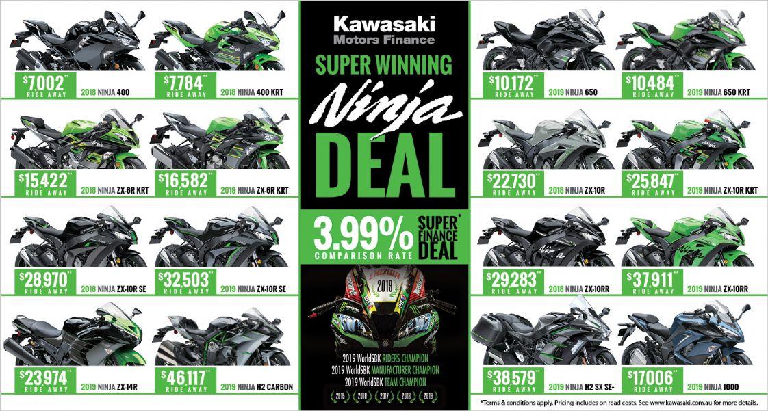 Kawasaki 3.99% Finance
