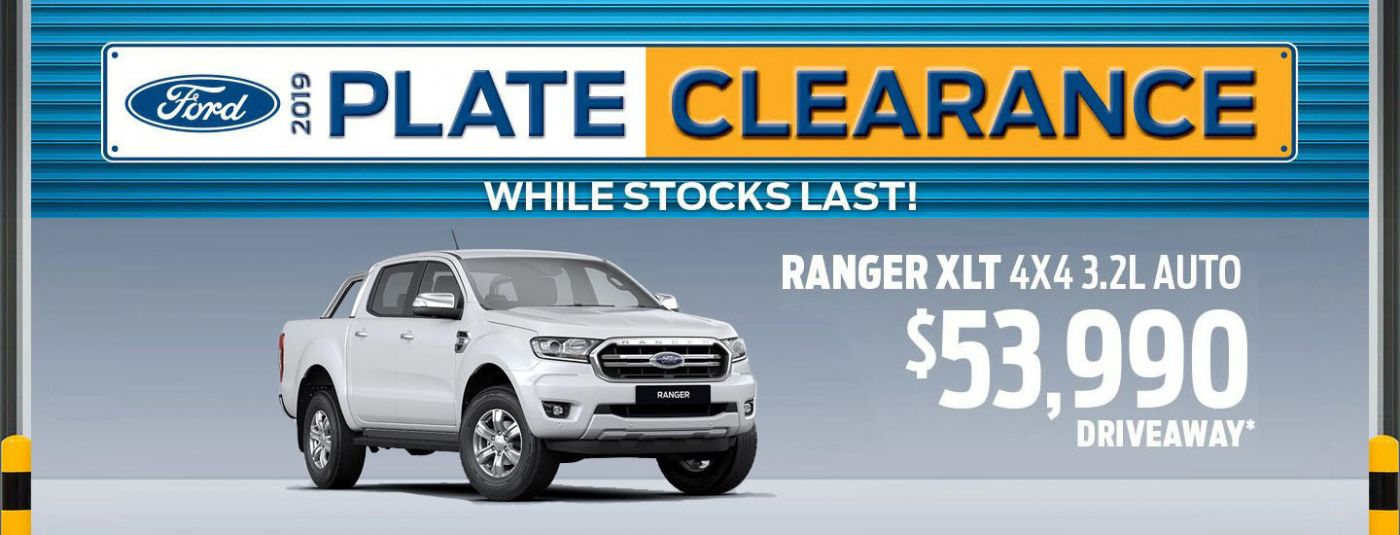 Ford 2019 Plate Clearance - Ford Ranger XLT 4x4 3.2L Auto