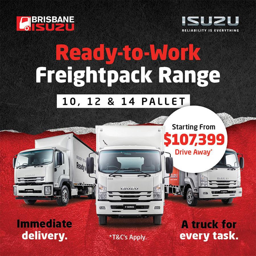 Brisbane Isuzu Ready-to-Work Freightpack Range