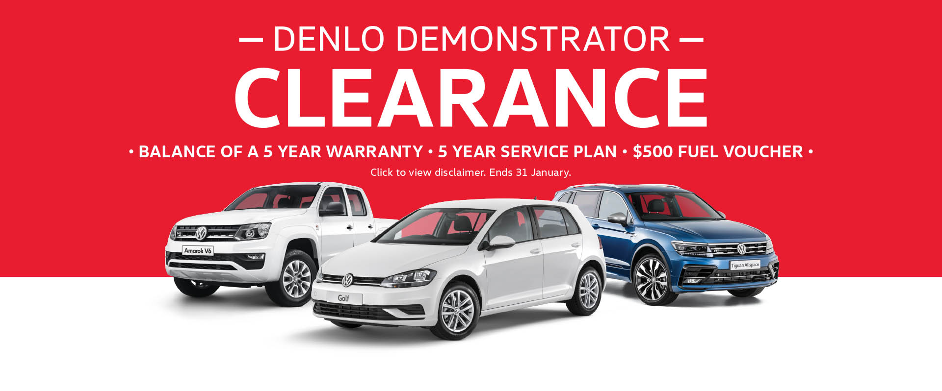 Denlo Volkswagen Demonstrator Clearance