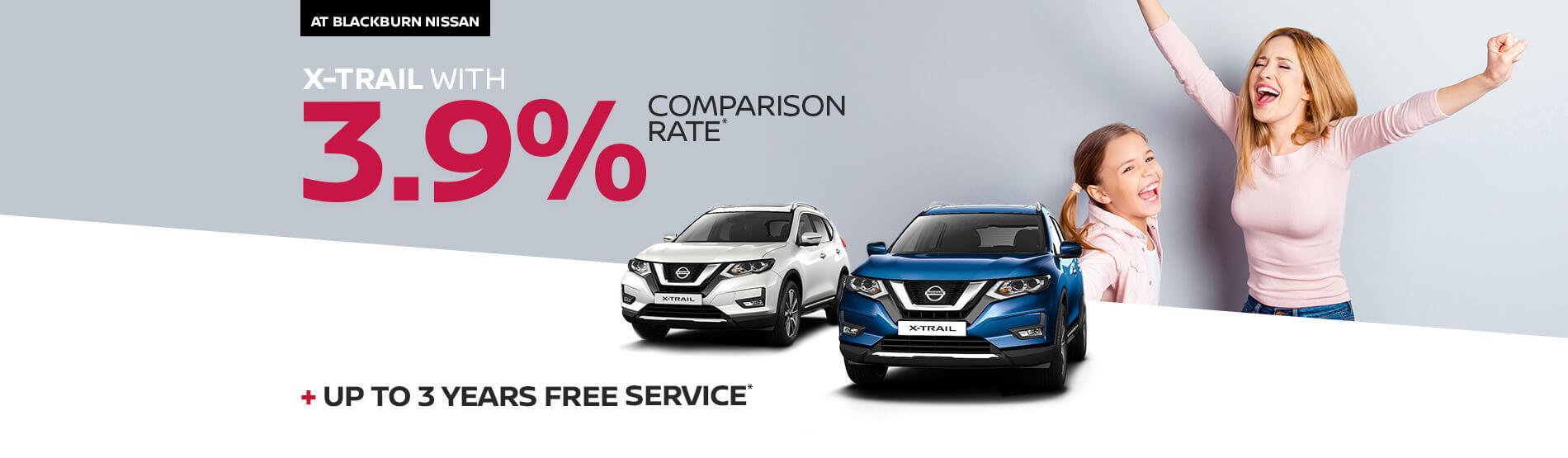 Blackburn Nissan X-Trail 3.9% Comparison Rate