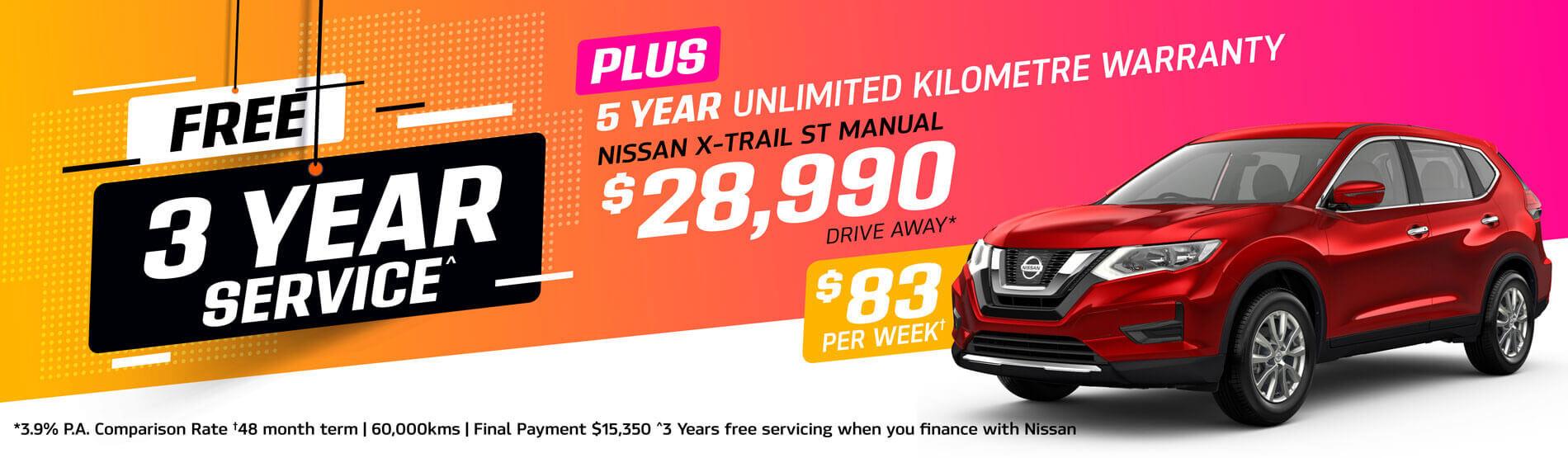 Parry NQ Nissan XTrail Offer