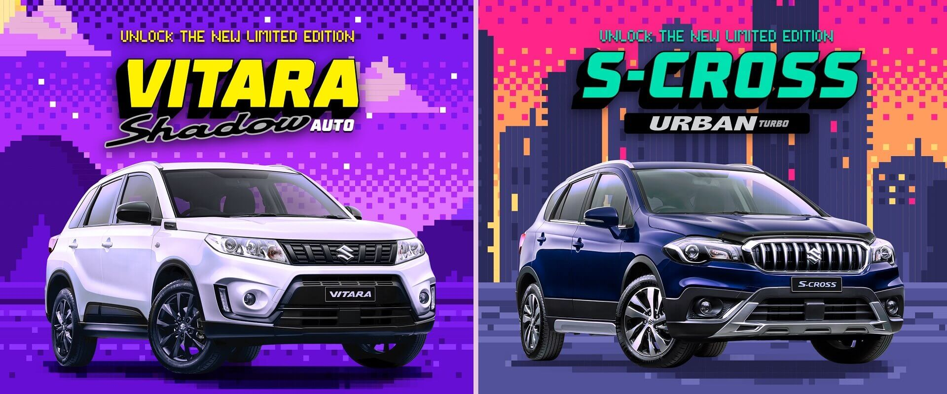 Suzuki Limited Edition Vitara Shadow and S-Cross Urban