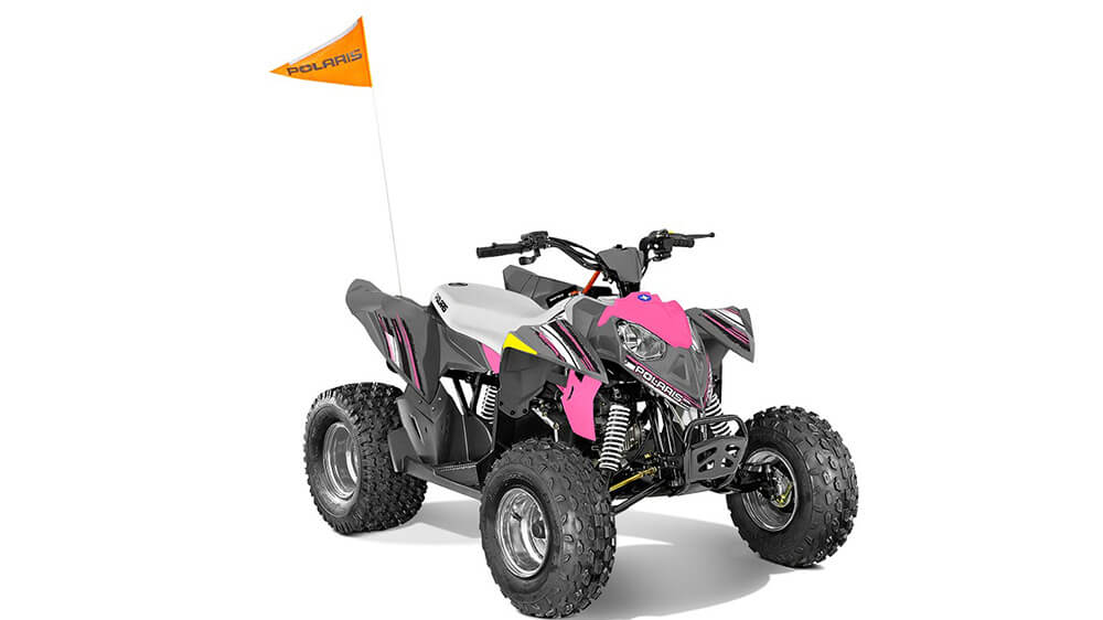 Outlaw 110 Avalanche Gray/Pink Power
