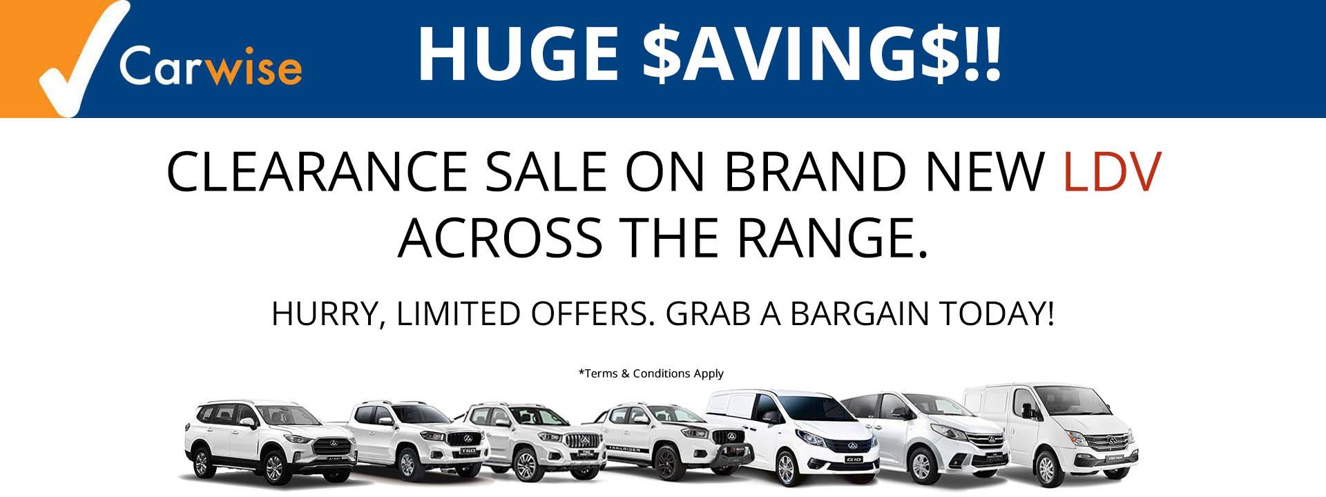 Carwise LDV Clearance Sale