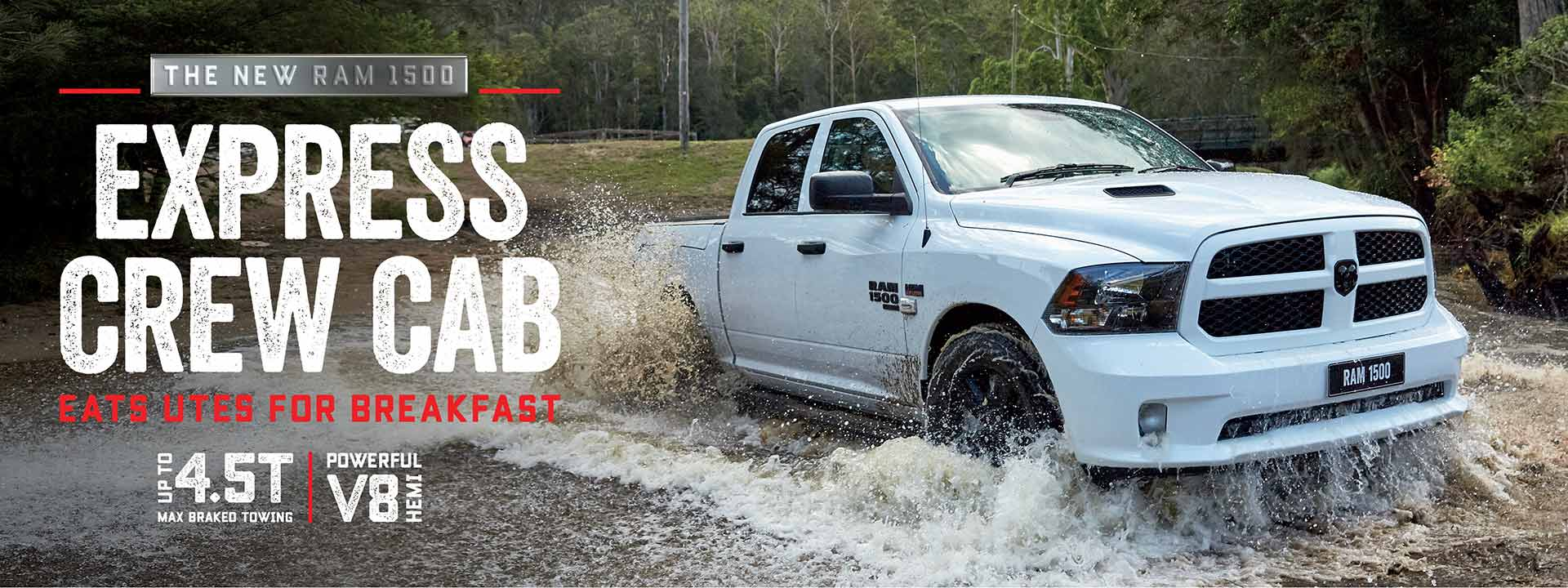 RAM 1500 Express Crew Cab |Eats Utes for Breakfast |V8 Hemi Power |Ram Trucks Australia