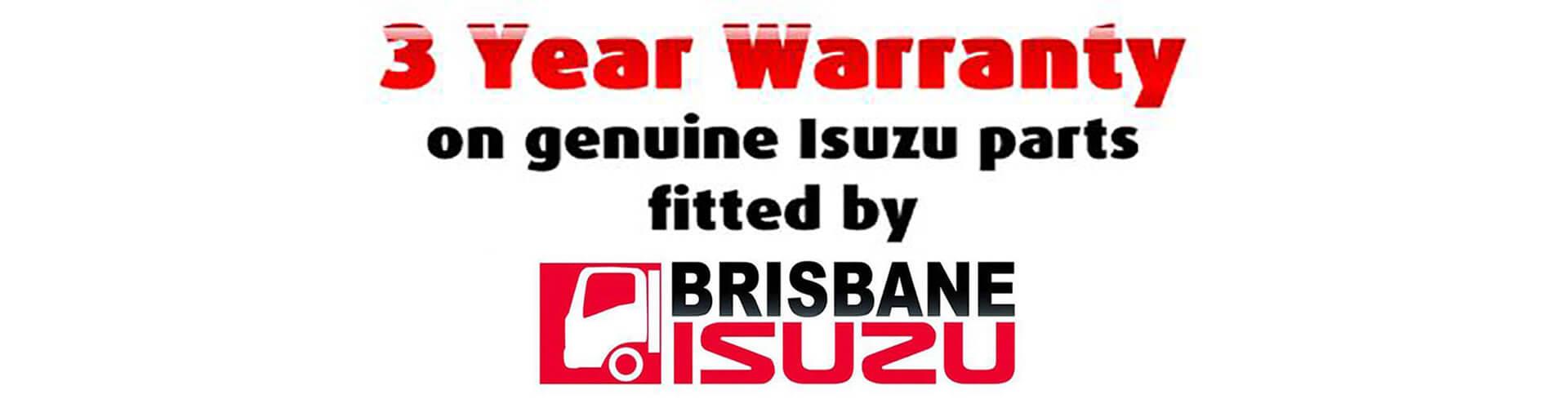Brisbane Isuzu 3 Year Warranty