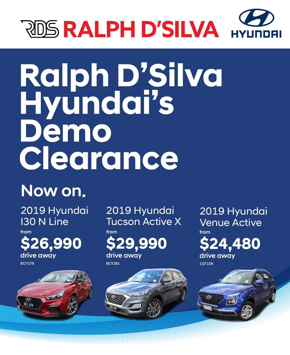 Hyundai Demo Clearance