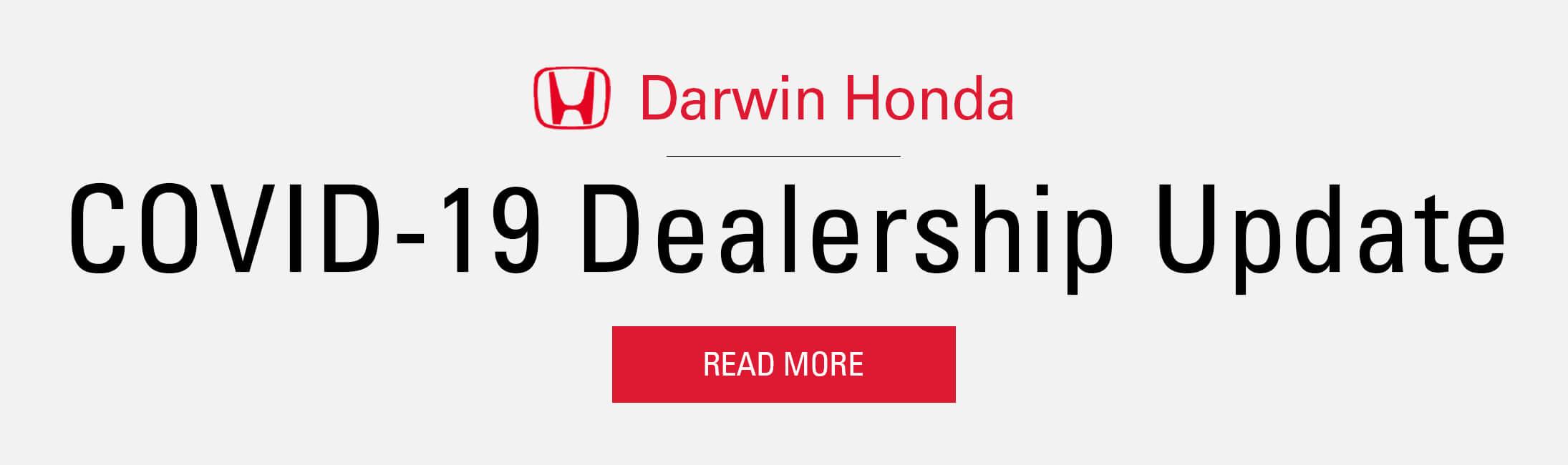 Darwin Honda COVID-19 Statement