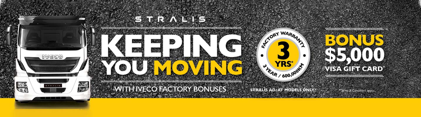 Iveco Stralis Keeping You Moving Campaign Banner