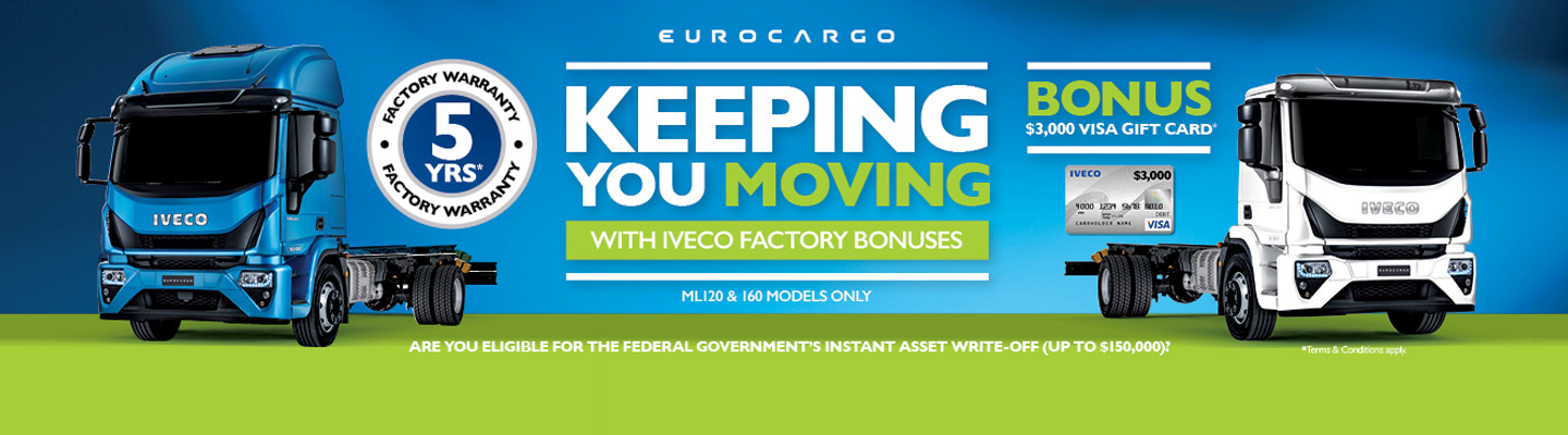 Iveco Eurocargo Keeping You Moving Campaign Banner