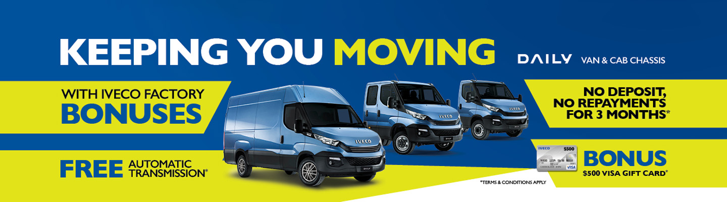 Iveco Daily Van Keeping You Moving Campaign Banner