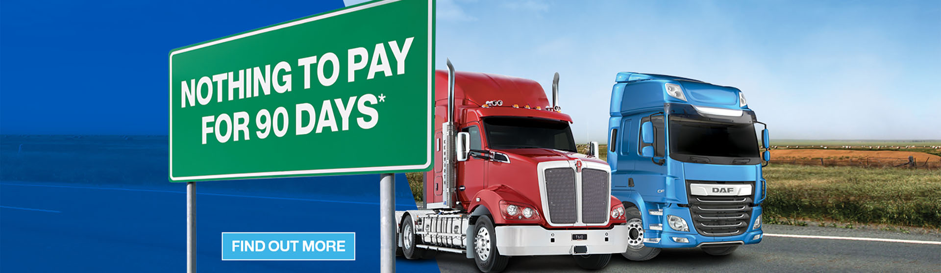 Kenworth DAF Nothing To Pay For 90 Days