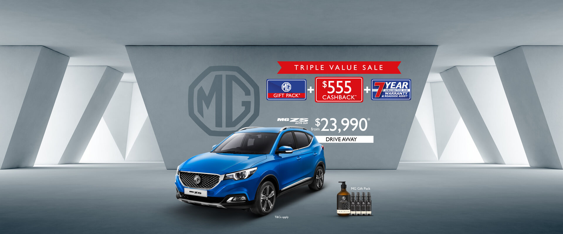 MG ZS - Triple Value Sale