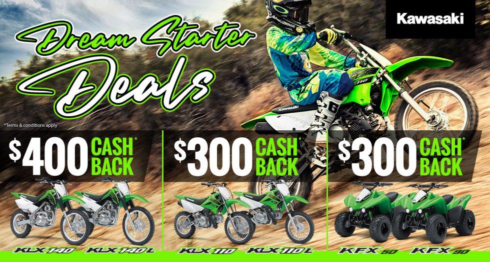 Kawasaki Dream Starter Deals