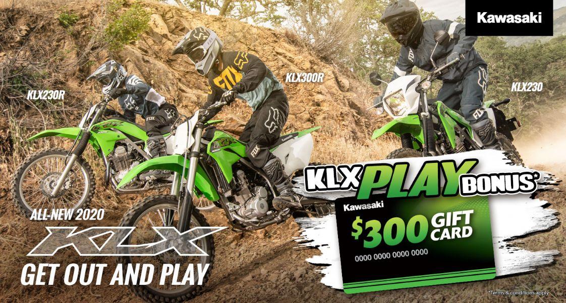 Kawasaki KLX Play Bonus - $300 Gift Card