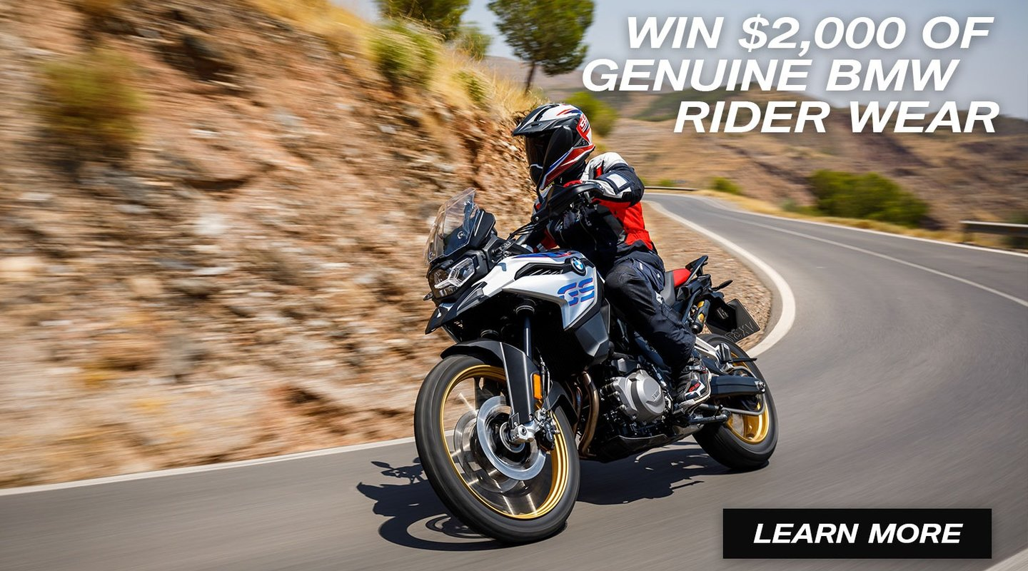 Win $2,000 Of BMW Rider Wear