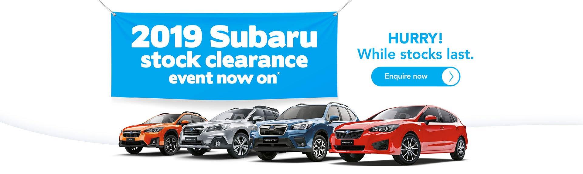 Subaru 2019 Plate Clearance