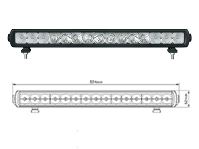Rexton - Nudge Bar LED Lightbar Kit
