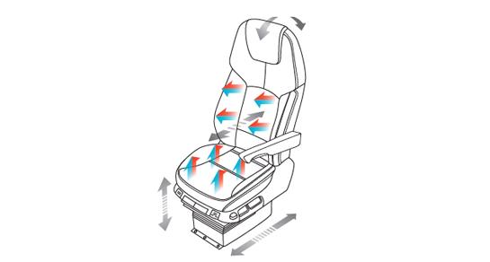 Xcient - Interior Seats