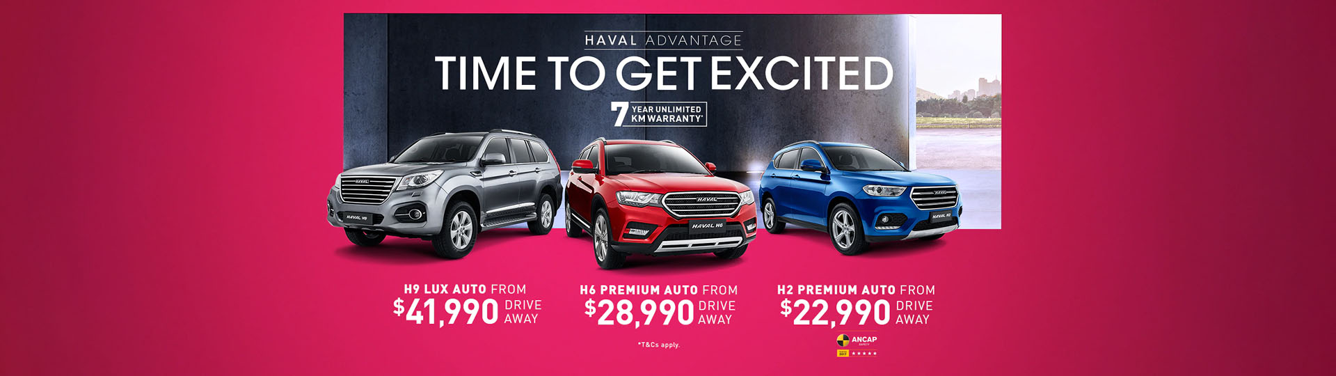 GWM HAVAL Time To Get Excited Offers