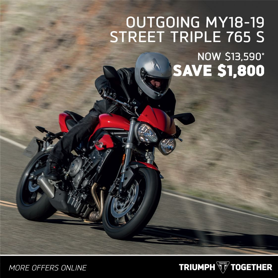 Triumph MY18-19 Street Triple 765 S