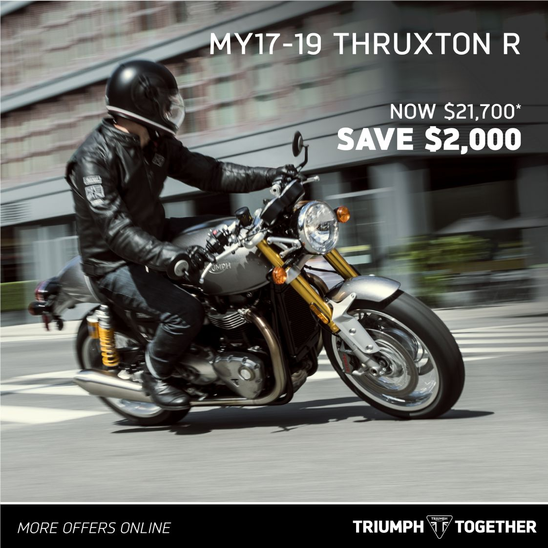 Triumph MY17-19 Bonneville Thruxton R