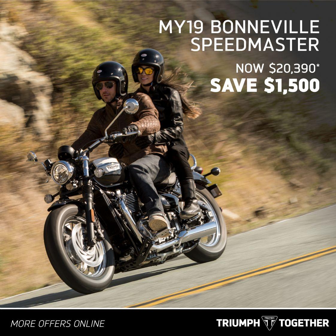 Triumph MY19 Bonneville Speedmaster
