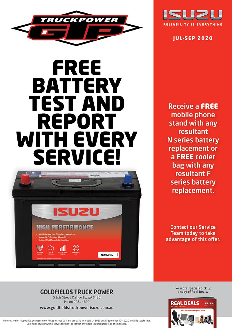 Free battery check specials
