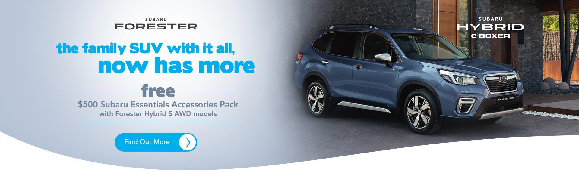 Trivett Subaru Forester Accessory Pack Offer