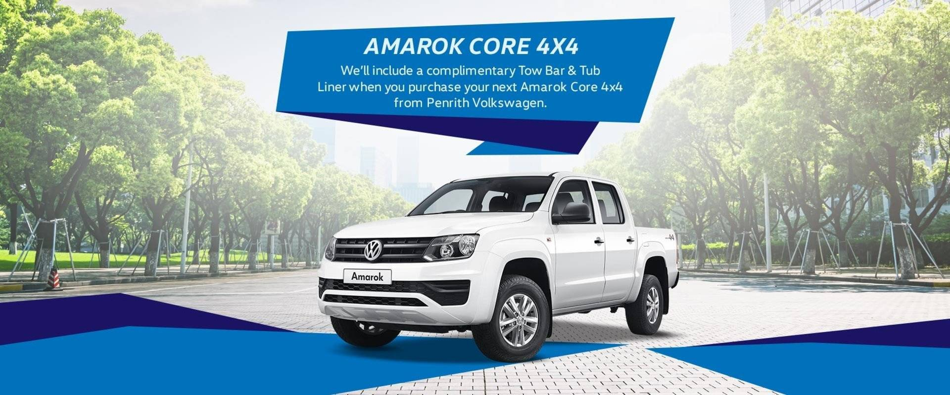 Amarok Core Offer - Complimentary Tub Liner + Tow Bar